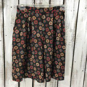 Vintage Geometric Floral Long Shorts Dress